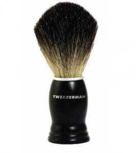 tweezerman shaving brush review